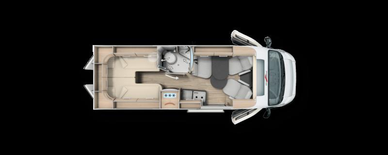 Grundriss Malibu Van Charming GT 640 LE MJ2021